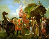Lord Clive after Battle of Plassey