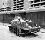 Indian soldier guards tank in Jakarta